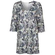 Buy French Connection Palm Tunic Dress, Tribal Green Online at johnlewis.com
