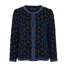 Buy French Connection Madeleine Mosaic Jacket, Utility Blue Online at johnlewis.com