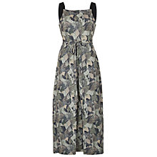 Buy French Connection Lala Palm Ottoman Maxi Dress, Tribal Green/Multi Online at johnlewis.com