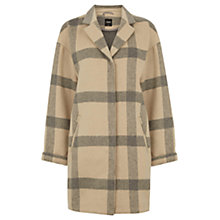 Buy Oasis The Grace Check Coatigan, Mid Neutral Online at johnlewis.com