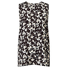 Buy BOSS Emese Printed Top, Black/Cream Online at johnlewis.com