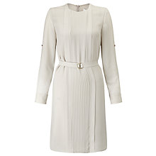 Buy BOSS Dineana Pintuck Dress, Light Beige Online at johnlewis.com