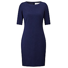 Buy BOSS Hiwinna Textured Dress, Open Blue Online at johnlewis.com