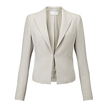 Buy BOSS Jitina Edge To Edge Blazer, Light Beige Online at johnlewis.com