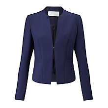 Buy BOSS Jasala Edge To Edge Blazer, Open Blue Online at johnlewis.com