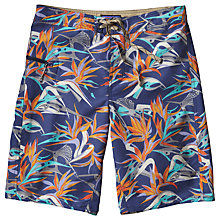 Buy Patagonia Printed Wavefarer Board Shorts, Pitton Paradise Blue Online at johnlewis.com