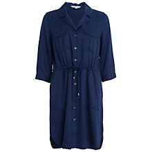 Buy French Connection Kruger Tencel Tie Waist Dress, Indigo Online at johnlewis.com