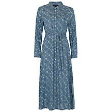 Buy French Connection Medina Shirt Dress, Black/Tribal Green Online at johnlewis.com