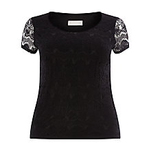 Buy Windsmoor Lace Top, Black Online at johnlewis.com