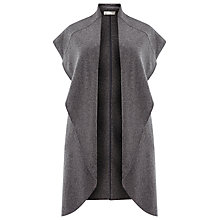 Buy Windsmoor Sleeveless Wool Blend Coatigan, Mid Grey Online at johnlewis.com