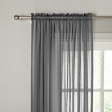 Buy John Lewis Plain Cotton Slot Top Voile Panel Online at johnlewis.com