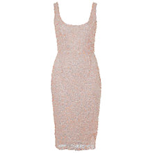 Buy French Connection Celia Sequin Scoop Neck Dress, Apricot Online at johnlewis.com