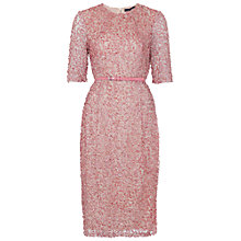 Buy French Connection Celia Sequin Dress, Rose Tan Online at johnlewis.com