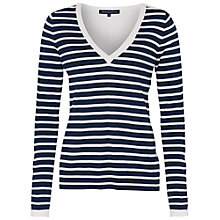 Buy French Connection Cass Knits V Neck Jumper, Multi Online at johnlewis.com