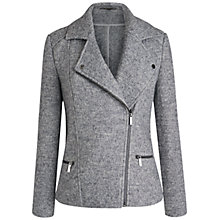 Buy Celuu Ruby Biker Jacket, Grey Online at johnlewis.com