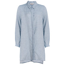 Buy French Connection Tencel Chambray Shirt Dress, Pale Blue Online at johnlewis.com