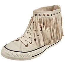 Buy Converse Chuck Taylor All Star Fringed Hi Top Trainers, Parchment Online at johnlewis.com