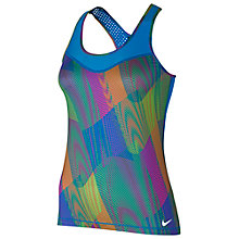 Buy Nike Pro Hypercool Frequency Tank Top, Blue/Multi Online at johnlewis.com