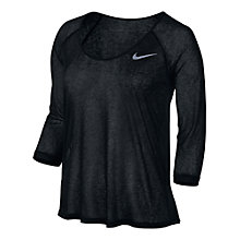 Buy Nike Dri-FIT Breeze Three-Quarter Sleeve Top Online at johnlewis.com