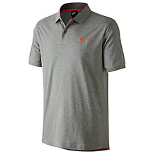 Buy Nike Matchup Polo Shirt, Dark Grey Heather/Light Crimson Online at johnlewis.com