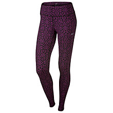 Buy Nike Starglass Epic Run Running Tights, Purple Online at johnlewis.com