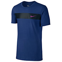 Buy Nike Avenue Just Do It T-Shirt, Deep Royal Blue Online at johnlewis.com