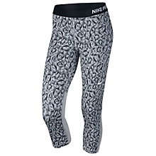 Buy Nike Pro Cool Facet Capris Pants, Wolf Grey/Black Online at johnlewis.com