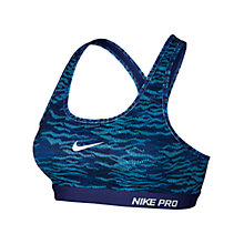 Buy Nike Pro Classic Padded Reflect Print Sports Bra Online at johnlewis.com