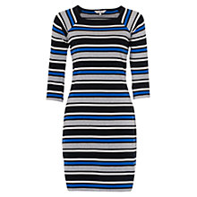 Buy French Connection Suo Stripe Stretch Dress, Empire Blue/Multi Online at johnlewis.com