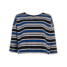 Buy French Connection Suo Striped Top, Empire Blue Multi Online at johnlewis.com