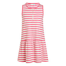 Buy John Lewis Girls' Stripe Print Dress, Bright Pink Online at johnlewis.com