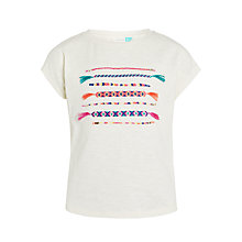 Buy John Lewis Girls' Friendship Bracelet T-Shirt, Cream/Grey Online at johnlewis.com