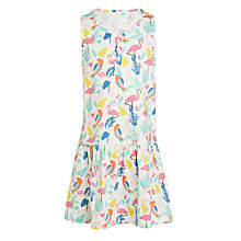 Buy John Lewis Girls' Flamingo Print Dress, Multi Online at johnlewis.com