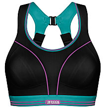Buy Shock Absorber Ultimate Run Sports Bra, Black Baltic Online at johnlewis.com