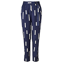 Buy Selected Femme Aniza Line Print Trousers, Navy Online at johnlewis.com