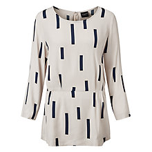 Buy Selected Femme Hevia Line Print Top, Wind Chime Online at johnlewis.com