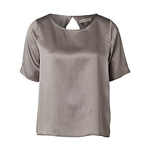 Buy Selected Femme Remmi Silk T-Shirt, Steel Grey Online at johnlewis.com