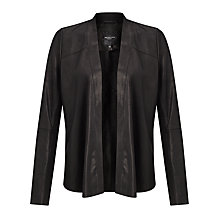 Buy Selected Femme Bali Leather Jacket, Black Online at johnlewis.com