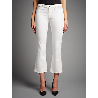 AG The Jodie Crop Bootcut Jeans, White