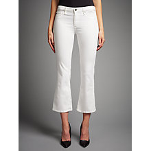 Buy AG The Jodie Crop Bootcut Jeans, White Online at johnlewis.com