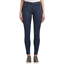 Buy Calvin Klein High Rise Skinny Jeans, Dark Eighties Blue Stretch Online at johnlewis.com