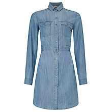 Buy Calvin Klein Rivani Shirt Dress, Indigo Online at johnlewis.com