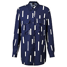Buy Selected Femme Anzia Line Print Shirt, Navy Online at johnlewis.com