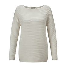 Buy Selected Femme Laua Ribbed Jumper, Snow White Online at johnlewis.com