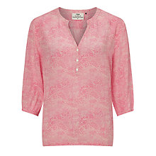 Buy Pyrus Tasha Mixed Dot Silk Blouse, Pink Online at johnlewis.com