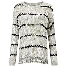 Buy Velvet Arabel Textured Stripe Jumper, Marled Online at johnlewis.com