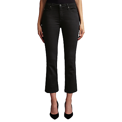AG The Jodie Crop Bootcut Jeans, Over Dye Black