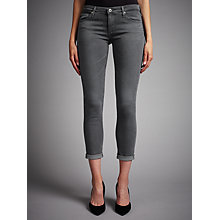 Buy AG The Stilt Roll Up Cropped Jeans, Greyhound Online at johnlewis.com