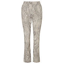 Buy Gardeur Zuri Slim Fit Cropped Printed Jeans, Taupe Online at johnlewis.com