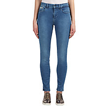Buy Calvin Klein High Rise Skinny Jeans, Mid Eighties Blue Stretch Online at johnlewis.com